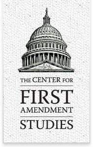 Center For First Amendment Studies Logo with a woodcut of the US capitol dome.