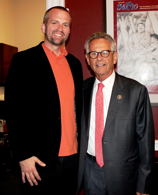 Center Director Kevin Johnson with Congressman Alan Lowenthal