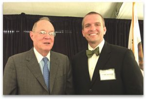 Center Director Kevin Johnson with Supreme Court Justice Anthony Kennedy